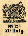 A colour facsimile of the type 2 layout of Eberle's maker's mark